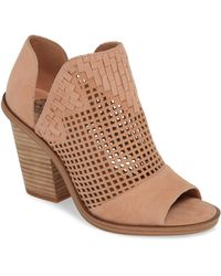 Vince Camuto - Fritzey Perforated Peep Toe Bootie - Lyst