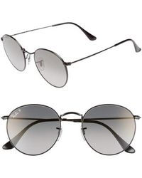 Ray-Ban - 53mm Polarized Round Sunglasses - - Lyst