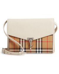 Burberry - Small Macken Vintage Check Crossbody Bag - Lyst