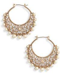 Marchesa - Filigree Click Hoop Earrings - Lyst