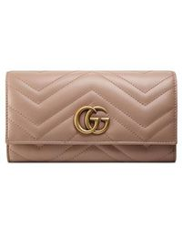 Gucci - Gg Marmont Matelasse Leather Continental Wallet - - Lyst