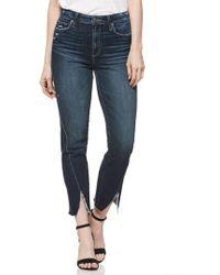 PAIGE - Transcend Vintage - Skyline Twist Hem Ankle Straight Leg Jeans - Lyst