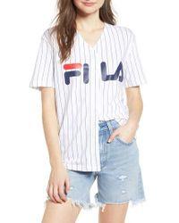 Fila - Lacey Baseball Top - Lyst
