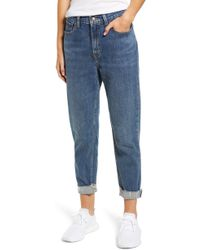 Levi's - High Waist Ankle Mom Jeans - Lyst