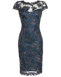 Tadashi Shoji - Embroidered Mesh Sheath Dress - Lyst