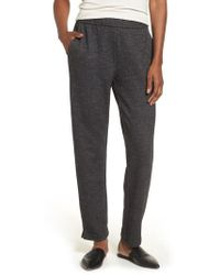 Eileen Fisher - Herringbone Slim Ankle Pants - Lyst