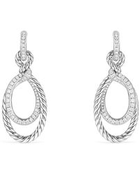 David Yurman - Continuance Diamonds Drop Earrings - Lyst