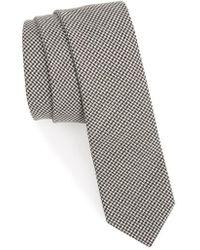Eleventy - Houndstooth Wool Skinny Tie - Lyst
