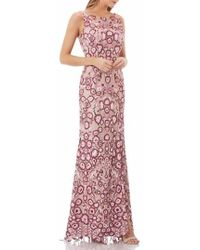 JS Collections - Sleeveless Embroidered Gown - Lyst