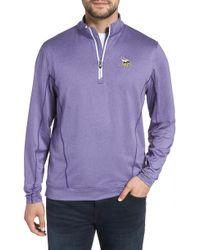 Cutter & Buck - Endurance Minnesota Vikings Regular Fit Pullover - Lyst