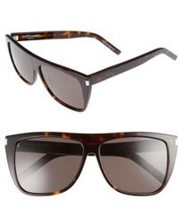 Saint Laurent - Sl1 59mm Flat Top Sunglasses - - Lyst