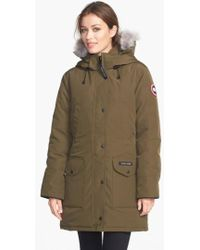 Canada Goose - 'trillium' Regular Fit Down Parka With Genuine Coyote Fur Trim - Lyst