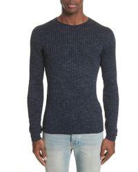 John Varvatos | John Varvatos Melange Stripe Sweater | Lyst