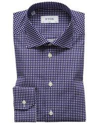 Eton of Sweden - Slim Fit Geometric Dress Shirt - Lyst
