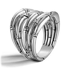 John Hardy - 'bamboo' Wide Stack Ring - Lyst