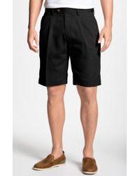 Cutter & Buck - Double Pleated Microfiber Twill Shorts - Lyst