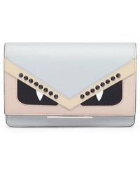 Fendi - Tube Monster Leather Wallet On A Chain - - Lyst