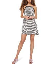 TOPSHOP - Stripe Skater Dress - Lyst