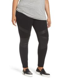 Two By Vince Camuto - Lacquer Inset Moto Leggings - Lyst