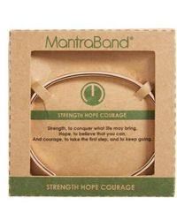 Mantraband - Strength Hope Courage Engraved Cuff - Lyst