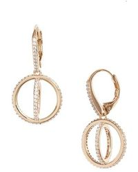 Nadri - Crystal Open Circle Drop Earrings - Lyst