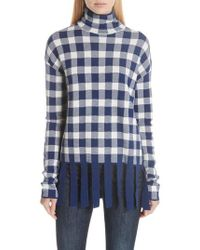 Christian Wijnants - Check Fringed Sweater - Lyst