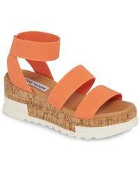 cc894256c67e11 Lyst - Steve Madden Bandi Platform Wedge Sandal in Blue - Save 11%
