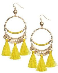 Lilly Pulitzer - Lilly Pulitzer Surf Tassel Earrings - Lyst