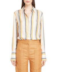 Victoria, Victoria Beckham | Fluid Stripe Silk Shirt | Lyst