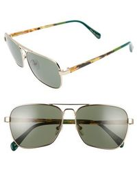 TOMS - Navigator 201 58mm Sunglasses - Shiny Gold - Lyst