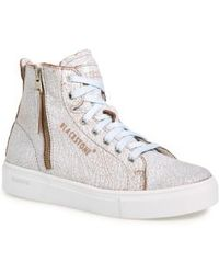 Blackstone - 'll78' Crackled High Top Platform Sneaker - Lyst