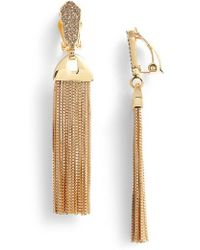Vince Camuto | Pave Tassel Earrings | Lyst