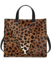 Clare V. - 'petit Simple' Leopard Print Genuine Calf Hair Tote - - Lyst