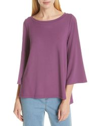 Eileen Fisher - Flare Sleeve Top - Lyst