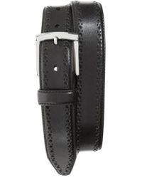 Johnston & Murphy | Perforated Leather Belt | Lyst