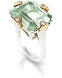 Maniamania - Prasiolite Cocktail Ring With Diamonds - Lyst