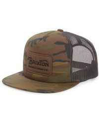 Brixton - Grade Snapback Cap - - Lyst