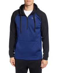 0c6bd7a3 Lyst - Nike Big & Tall Long-sleeve Quarter-zip Therma Fleece ...