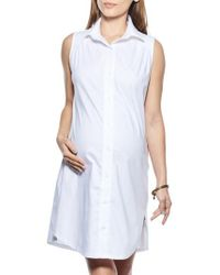 Imanimo - Button Down Maternity Shirtdress - Lyst
