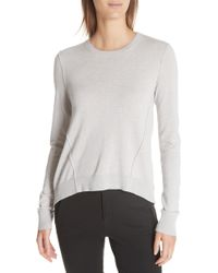 ATM - Forward Seam Silk, Wool & Cashmere Sweater - Lyst