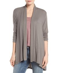 Bobeau - High/low Jersey Cardigan - Lyst