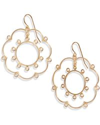 Asha - Gardenia Wire Drop Earrings - Lyst