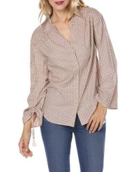 PAIGE - Torin Check Blouse - Lyst