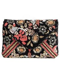 Sole Society - Floral Sequin Clutch - Lyst