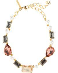 Oscar de la Renta - Bold Crystal Necklace - Lyst