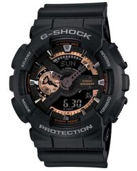 G-Shock - G-shock 'x-large' Rose Gold Dial Watch - Lyst