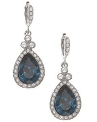 Givenchy - Pave Drop Earrings - Lyst