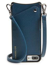 Bandolier - Pebbled Leather Iphone 6/7/8 Plus Crossbody Case - Lyst