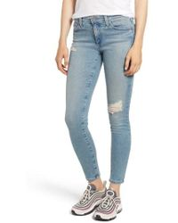 AG Jeans - The Farrah Ankle Skinny Jeans - Lyst