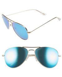 DIFF - Cruz 57mm Metal Aviator Sunglasses - - Lyst